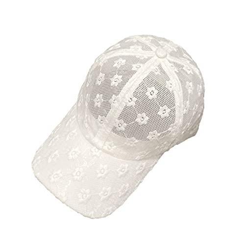 Amosfun Kühlen Sommer Einstellbare Schirmmütze Blume Spitze Schirmmütze Einstellbare Cap Atmungsaktiv Sonnenschirm Kappe