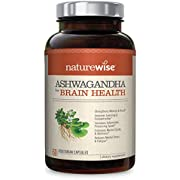 NatureWise Ashwagandha for Brain Health | Natural Nootropic Superblend | KSM 66 Ashwagandha Organic Extract to Boost Memory, Clarity, Focus, & Stress ( Watch Video in Images) [1 Month - 60 Count]