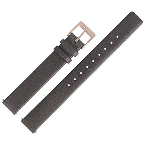 Skagen Uhrenarmband 12mm Leder Grau - SKW2267