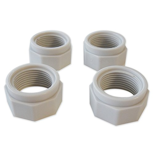 4) Polaris D15 Swimming Pool Cleaner 180 280 380 Feed Hose Nuts Part D-15, White