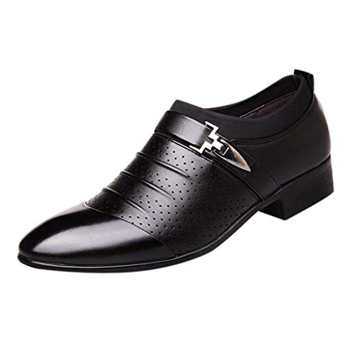 Alwayswin Lederschuhe Herren Business Schuhe Lässige Atmungsaktive Leder Schuhe Sandalen Formale Anzugschuhe Party Hochzeitsschuhe Slipper Slip-On Klassische Lederschuhe