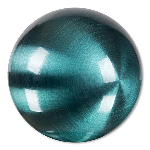 Edelstahlkugeln Bunte Edelstahl- Kugel matt gebürstet ca. 100 mm / 10 cm, Dekokugeln FARBIG (Petrol 36)