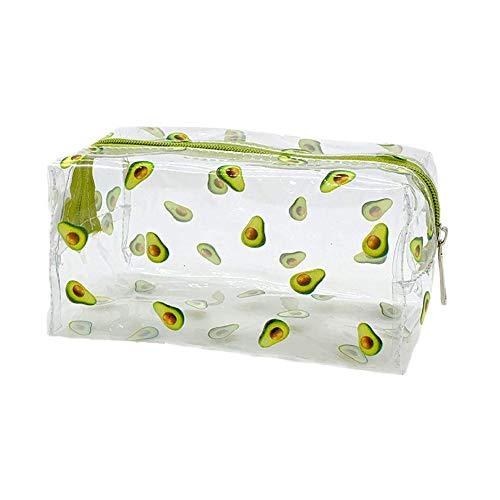 JunNeng Kosmetiktasche mit niedlichem Cartoon-Motiv, transparent, Make-up-Tasche für Damen und Mädchen, Kulturbeutel, Aufbewahrungstasche, Tasche für Make-up-Pinsel, Federmäppchen