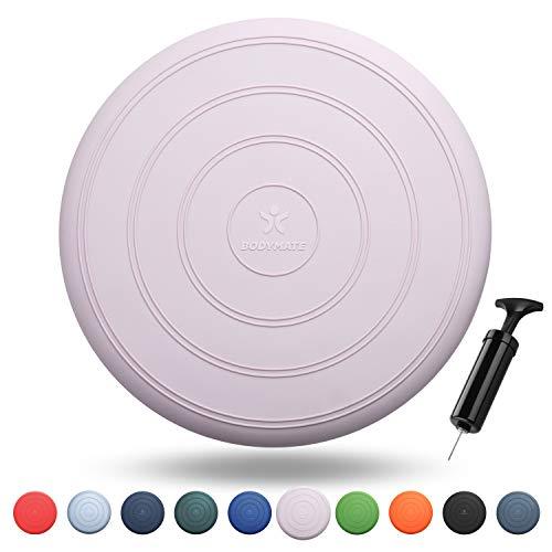 BODYMATE Ballsitzkissen Comfort inkl. Pumpe Rose-Gold 33cm Durchmesser - Balance-Kissen, Sitzballkissen, Luftkissen, Balance Pad - Core-, Fitness-, Reha-, Koordinations- und Rückentraining