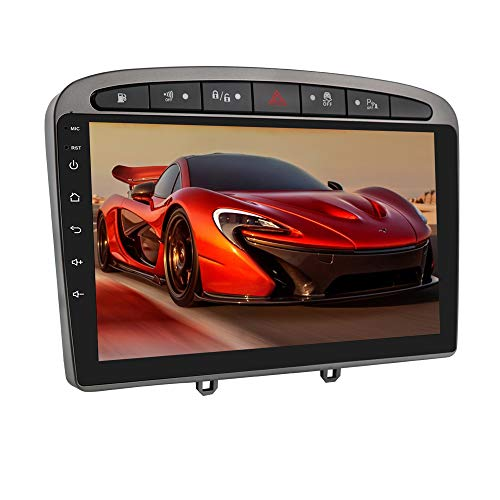 Autoradio Stereo con touch screen da 9 pollici Sistema Android 10 per Peugeot (308 308S 408) 2012-2020, navigazione GPS per auto Supporta SWC Connessione telecamera per retrovisore USB Bluetooth