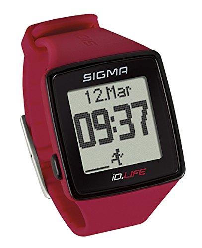 Sigma Gesundheit und Fitness ID. Life Herzfrequenz Monitor und Activity Tracker, iD.Life, rot