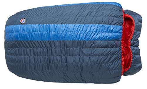 "Big Agnes King Solomon 15 (600 DownTek) Sleeping Bag, 40"" Double Wide, Blue/Red"