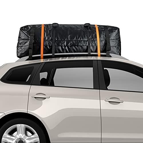 BRAMBLE Box da Tetto per Auto, 450 Litri - con Tappetino Antiscivolo e Cinghie