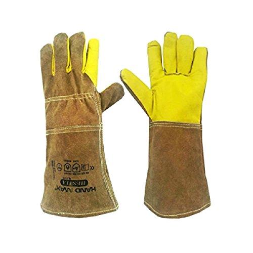 Hand Max Versatile Multi Purpose 14inch Cow Gauntlet Leather Kevlar Heat Resistant Gloves