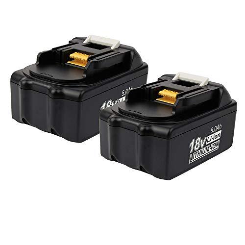 5.0Ah Li-ion Ersatz für Makita Akku 18V BL1860B BL1860 BL1850B BL1850 BL1830 BL1840 BL1845 BL1835 BL1815 BL1820 194204-5 194205-3 LXT-400 batterien 2 Stück