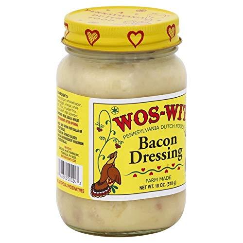 WOS-WIT Bacon Dressing, Farm Made 18 Oz (510 g) Glass Jar. (2 Pack)