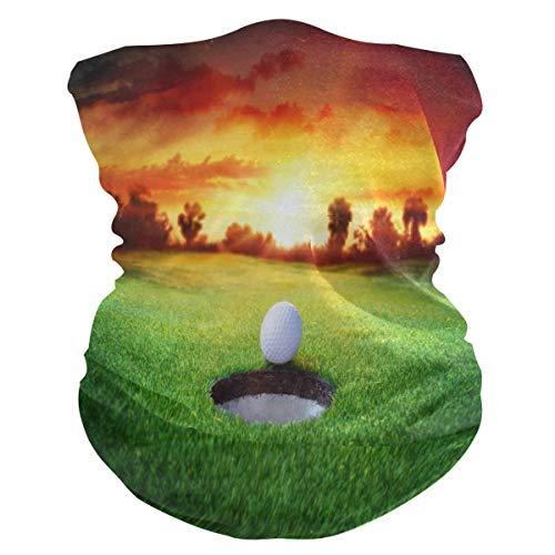 BIGJOKE Sport Golfball winddicht UV-Schutz Gesichtsmaske Bandanas Kopftuch waschbar Hals Gaiter Stirnband für Damen Herren Outdoor-Aktivitäten Staub Yoga