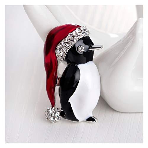 JSJJAYH Broche 1 unids pingüino Cristal Broche Pin al por Mayor Lindo Kawaii Animal Moda pequeño Broche joyería Regalo Navidad Accesorios
