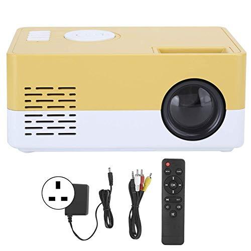 OHHG Mini Caja proyector, Mini proyector LED, Proyector películas portátil Alta definición Completa 1080p Proyector Video Cine casa, Entretenimiento al Aire Libre interfaces HDMI USB AV