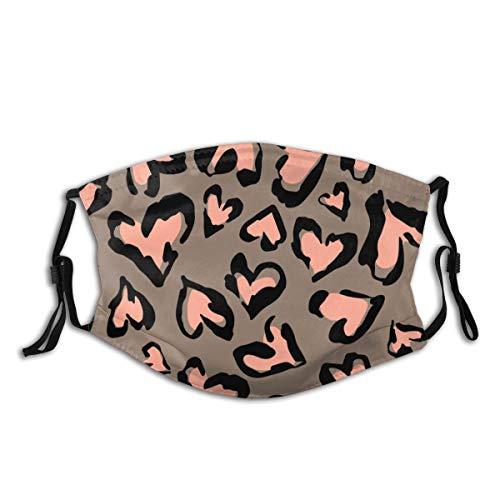 VTYOSQ Sturmhaube mit abstraktem Leopardenmuster ohne Nähte mit Filter und Staubschutz für Männer und Frauen