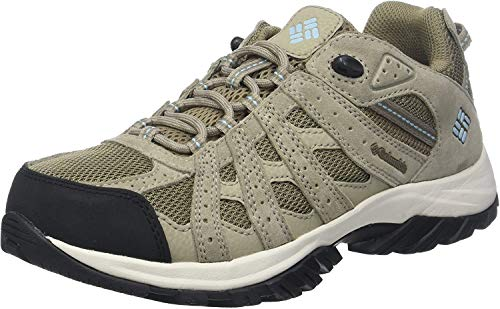Columbia Canyon Point, Zapatillas de Senderismo Impermeables para Mujer, Marrón, Azul (Pebble, Sky Blue), 38 EU