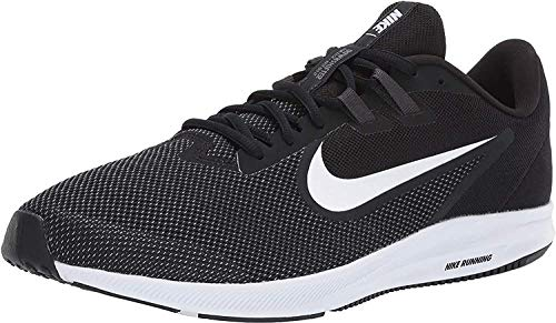 Nike Herren Downshifter 9 Laufschuhe, Schwarz (Black/White-Anthracite-Cool Grey 002), 42 EU
