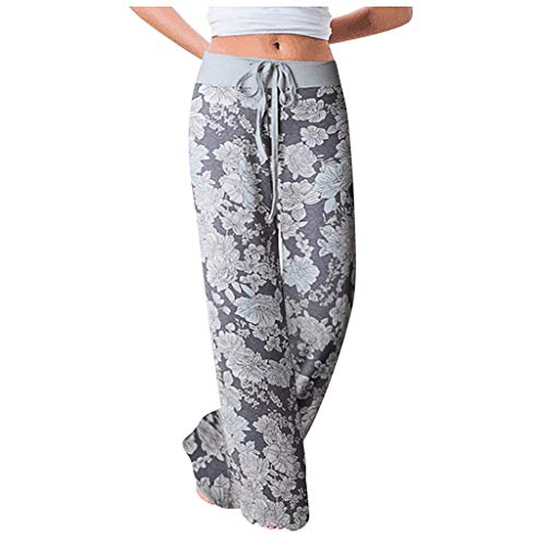 Best Prices! kaifongfu Womens Comfy Stretch Floral Print Drawstring Wide Leg Lounge Pants Soprt Yoga...