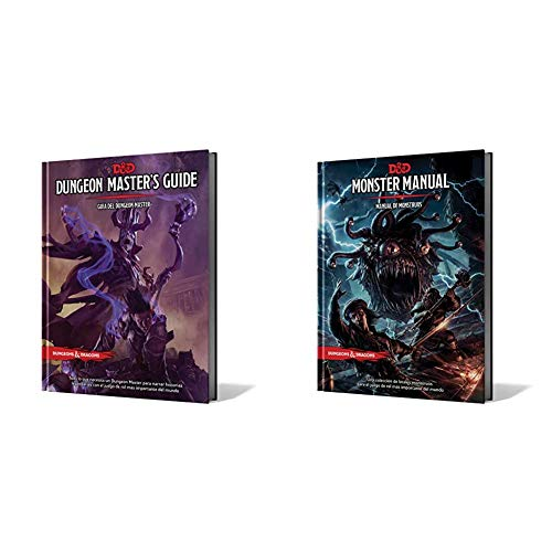 Dungeons & Dragons- D&D Dungeon Master's Guide (Guía del DM) - Español, Color (Edge Entertainment EEWCDD03) + UAL DE MONSTRUOS
