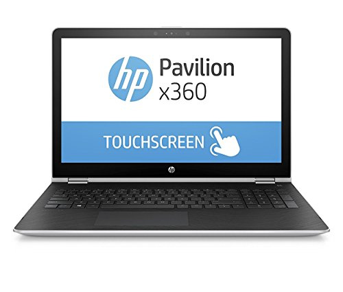 HP Pavilion x360 15-br009ng 2.50GHz i5-7200U 15.6' 1920 x 1080Pixel Touch screen Nero, Argento Ibrido (2 in 1) [Germania]