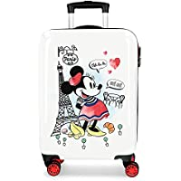 Disney Maleta de Cabina Minnie Around The World Paris 38 cm x 55 cm x 20 cm, Rojo