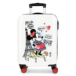 Disney Maleta de Cabina Minnie Around The World Paris 38 cm x 55 cm x 20 cm, Rojo