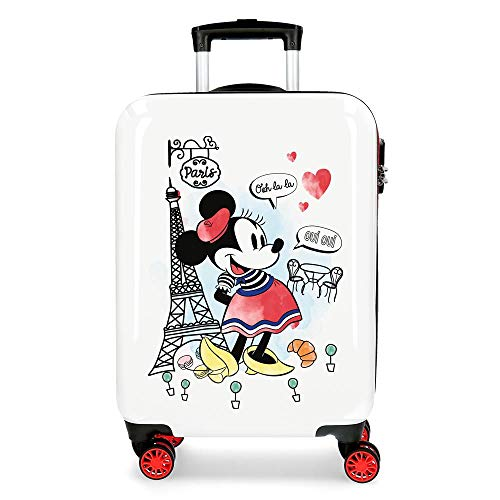 Disney Minnie Around the World Maleta de cabina Rojo 38x55x20 cms Rígida ABS Cierre combinación 34L 2,6Kgs 4 Ruedas dobles Equipaje de Mano