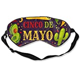 Eye Masks, Adjustable Strap Sleep Cover Mask Breathable Blindfold Cinco-De-Mayo-Festival-Ingredients-Burrito_52683-35529