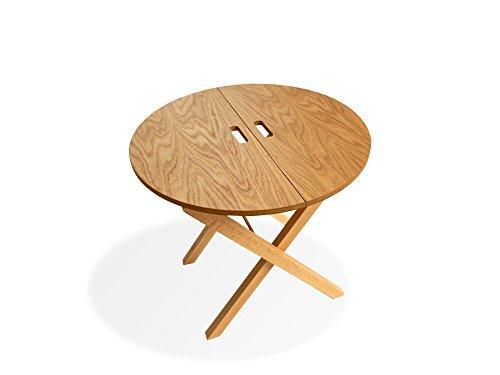 alu3design mobiliario Mesa Plegable Auxiliar (550x530mm, Roble Natural)