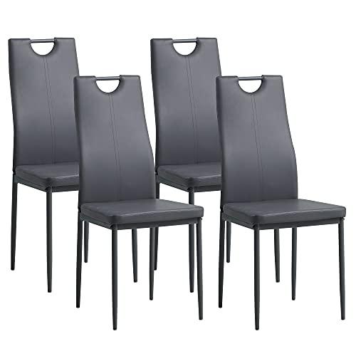 Albatros 2909 Salerno Set de 4 sillas de Comedor, Gris