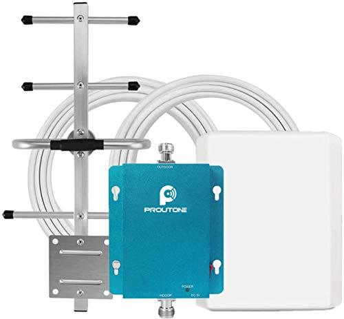 Proutone Amplificatore Cellulare Ripetitore 3G 2G GSM 900MHz Amplificatore Segnale Telefonica con Antenne Kit per TIM WIND VODAFONE 3