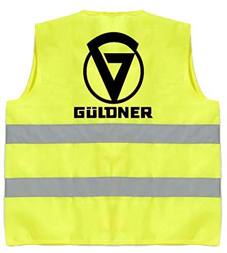 Schlüter Oldtimer Warnweste | Güldner | Gelb | Brust- und Rückendruck | Größe L/XL