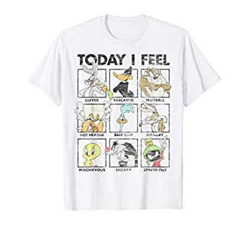 Looney Tunes Group Shot Today I Feel Panels T-Shirt
