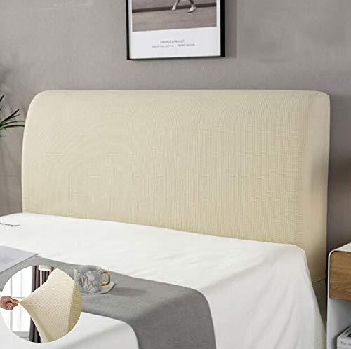 housse tete de lit,Housse de protection de tête de lit Housse De Tête De Lit Lavable Anti-poussière Pack complet 360 °Gris 150 cm Convient pour une tête de lit 140-170 cm
