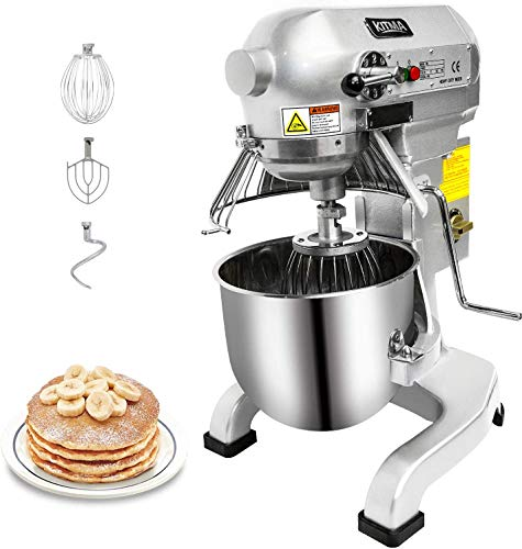 KITMA Commercial Food Mixer, Heavy Duty Dough Mixer with Stainless Steel Bowl - 10 Quart 750W 3 Speed