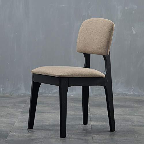 ZXWNB Retro Massivholz-Dining Chair Moderne Minimalist Solid Color Dining Chair Back Home Restaurant Stuhl, Schreibtisch, Stuhl Tee Café Hocker Freizeit-Stuhl,D,A1