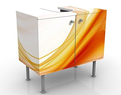 Meuble sous Vasque Design Orange Dust 60x55x35cm, Petit, 60 cm de Large, réglable, Table de lavabo, Armoire de lavabo, lavabo, Meuble Bas, Baignoire, Salle de Bains, Armoire de Salle Bains
