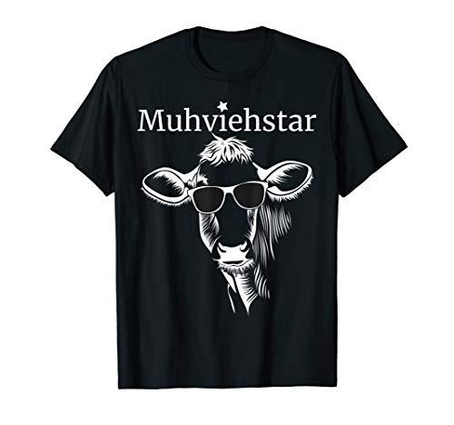 Lustiges Muhviehstar T-Shirt Landwirt Bauer Kühe T-Shirt
