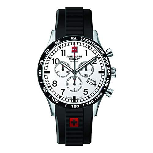 Swiss Alpine Military Herren Uhr Chrono 1746.9832SAM Silikon