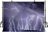HD 7x5ft雷背景傷のある地平線雷写真の背景写真スタジオの背景小道具LYP051