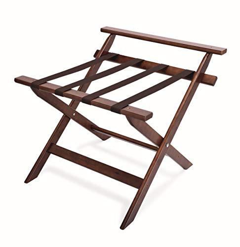Kerafactum klappbarer Kofferst/änder Gep/äckst/änder Koffer Hocker oder Tablettablage edles Holz
