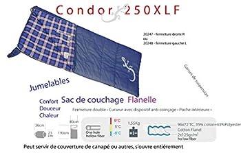 Freetime-Sacs de Couchage Polycoton - Sac Couchage Couverture 1 Place - Condor 250xlf-Droit