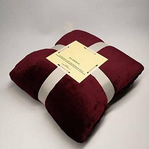 B/H Extra Suave Transpirable Manta,Manta de sofá cómoda y Suave, Manta Transpirable y Agradable para la Piel-Red_180 * 200CM,Manta sofá de Microfibra cómoda y Caliente
