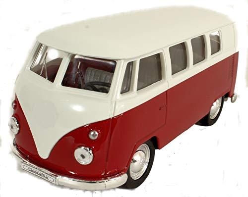 Modellauto Transporter T1 / Bulli / 1:34 / ca,11 cm / mit Rückzugsantrieb / DREI Farben Sortiert / Rot Orange oder Blau / Zufallsauswahl / T1