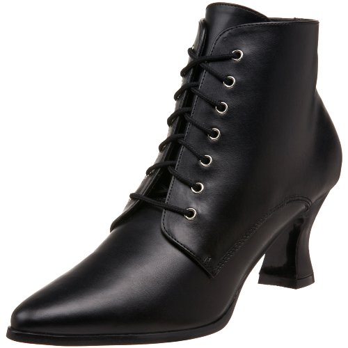 Funtasma by Pleaser Women's Victorian-35 Victorian Ankle Boot,Black,10 M US
