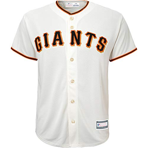 Outerstuff MLB 8-20 Youth Blank Cool Base Home Color Team Jersey (Small 8, San Francisco Giants)