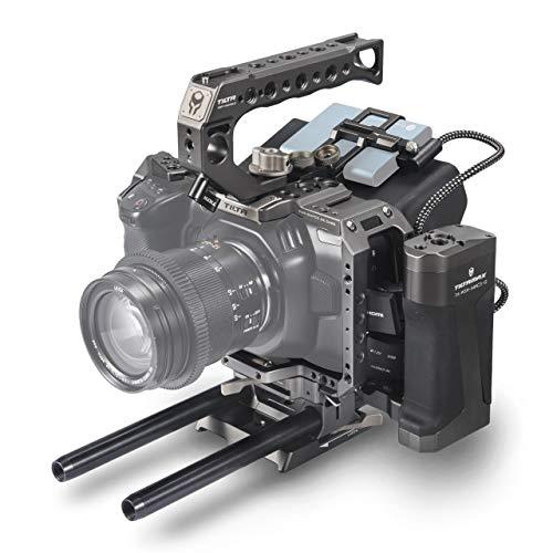 (Tilta Gray) TILTA TA-T01-A-G BMPCC 4K / 6K Kamera Käfig Tactical Camera Cage Blackmagic Pocket Cinema Camera 4K / 6K Rig (Tactical Kit)