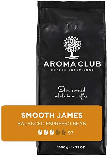 Aroma Club Kaffeebohnen 1 kg – Smooth James Medium/Dark röstung – colombian – Slow Roast – Für alle Kaffeemaschinen