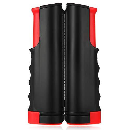 Sumind Red de Tenis de Mesa Retráctil, Soporte de Ping Pong Telescópica Portátil para Cualquier Mesa Poste de Soporte de Tenis de Mesa Ajustable para Accesorios Entretenimiento (Negro y Rojo)