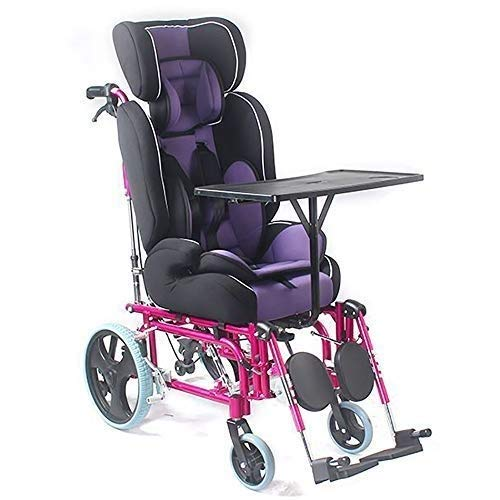 Foldable Wheelchai,Child Manual Wheelchair,With High Backrest,With Dining Table Cerebral Palsy ChildrenS Full Recline Trolley